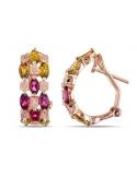 kolczyki pozłacane różowym złotem z kolorowymi cyrkoniami kolczyki pozłacane różowym złotem z kolorowymi cyrkoniami