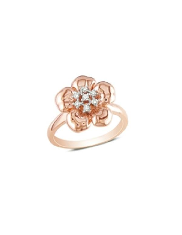 Pierścionek kwiat - pozłacany różowym złotem Pierścionek kwiat - pozłacany różowym złotem