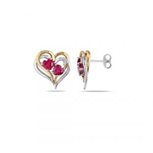 Dwukolorowe kolczyki serca