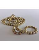 Naszyjnik z pereł - złota oliwka Naszyjnik z pereł - złota oliwka