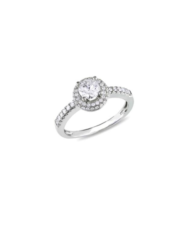 Pierścionek z białymi cyrkoniami Srebrny pierścionek z białymi cyrkoniami