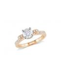 Pozłacany różowym złotem pierścionek z białymi cyrkonami Pozłacany różowym złotem pierścionek z białymi cyrkoniami