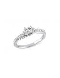 Srebrny pierścionek z kwadratową cyrkonią Srebrny pierścionek z kwadratową cyrkonią