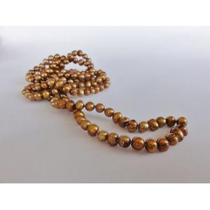Naszyjnik z pereł - stare złoto