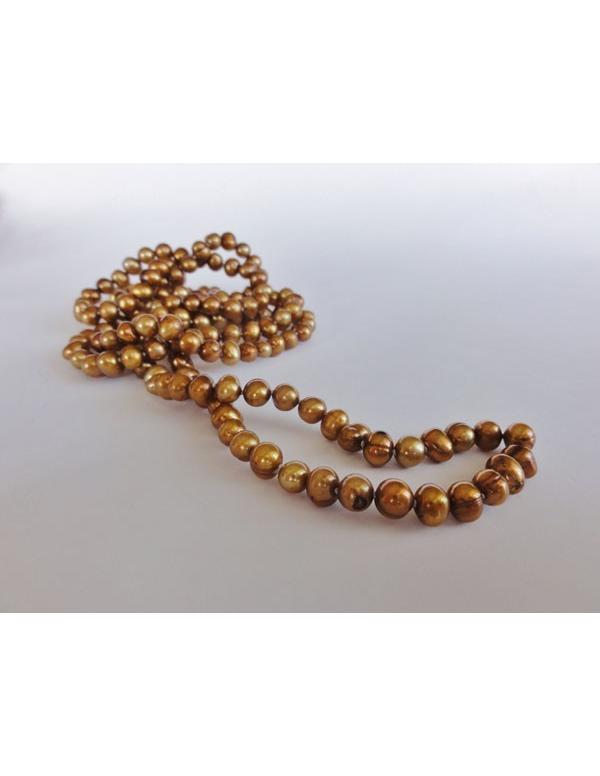 Naszyjnik z pereł - stare złoto Naszyjnik z pereł - stare złoto