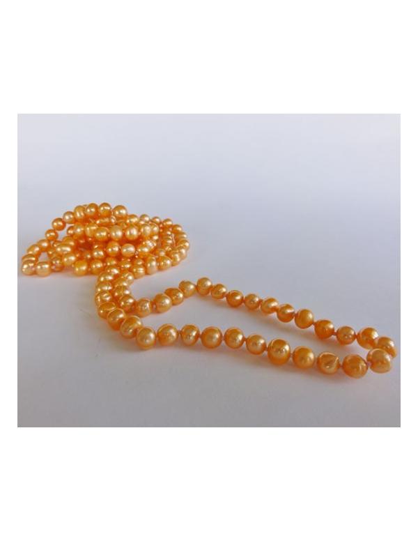 Naszyjnik z pereł - jasny pomarańcz Naszyjnik z pereł - jasny pomarańcz