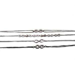 Srebrna bransoletka z nieskończonościami