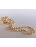 Naszyjnik z pereł - srebrna brzoskwinia Naszyjnik z pereł - srebrna brzoskwinia
