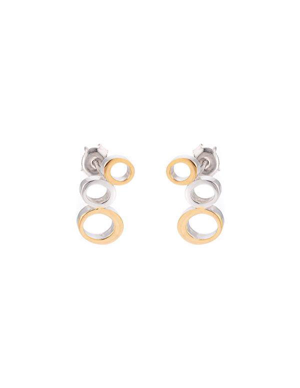 Srebrny pierścionek z niebieskimi cyrkoniami