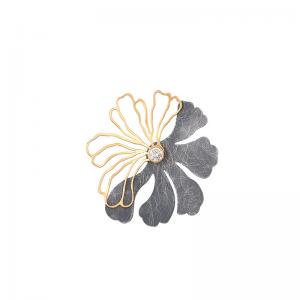 Pozłacana zawieszka kwiat z...