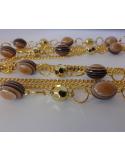 """Naszyjnik z łańcuszków i koralików """" gold chains"""" Naszyjnik z łańcuszków i koralików """" gold chains"""""""