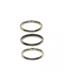 Komplet srebrnych obraczek oksydowanych z czarnymi cyrkoniami