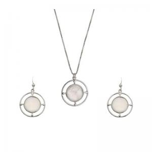 Srebrny komplet z masą perłową