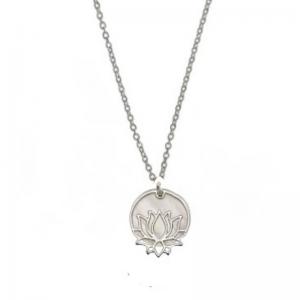 Srebrny komplet kwiat lotosu z masą perłową