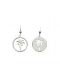 Srebrne kolczyki palma asymetryczne
