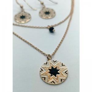 Kryształowy naszyjnik z kolczykami w kształcie łezki