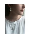 Srebrne kolczyki łezka z masą perłową