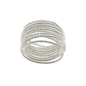 Srebrny pierścionek spirala...