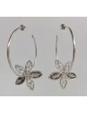 Naszyjnik z pereł - srebrny róż