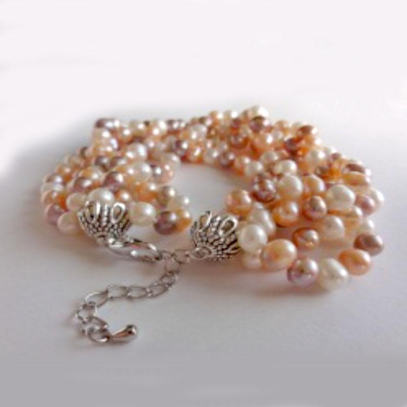 Bransoletka dla mamy z perłami hodowlanymi