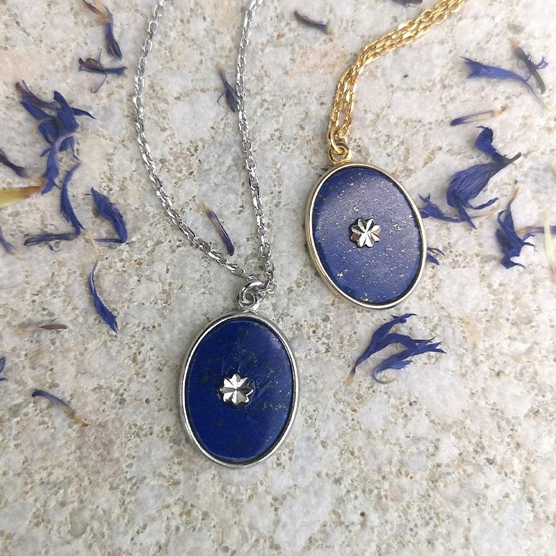 naszyjnik z lapis lazuli jako prezent dla magistra